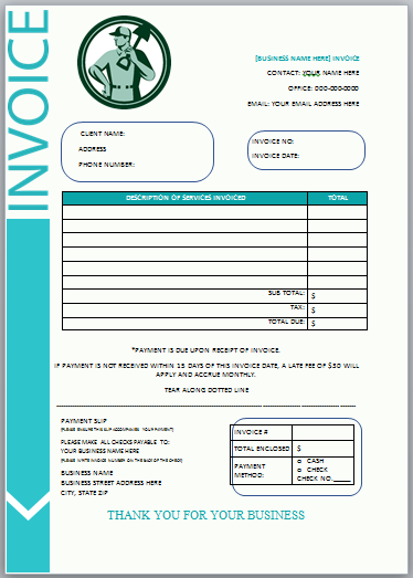 Landscaping Invoice Template 10