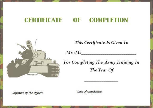 army_certificate_of_completion_template