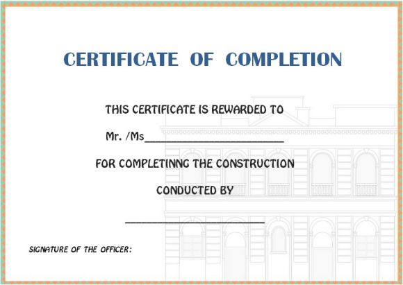 certificate_of_completion_format_for_buildings