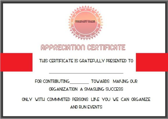 Charity Donation Certificate Template