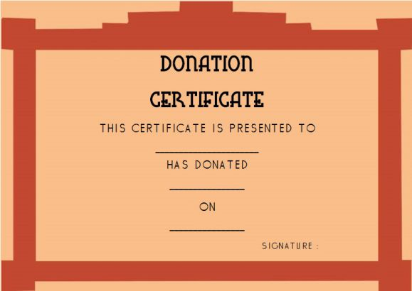 Donation Gift Certificate Template