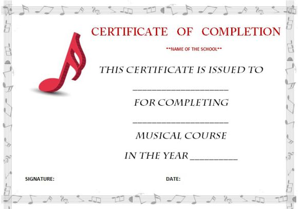 music_certificate_of_completion_template