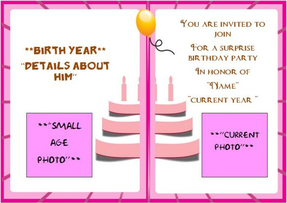 75th surprise birthday party invitation