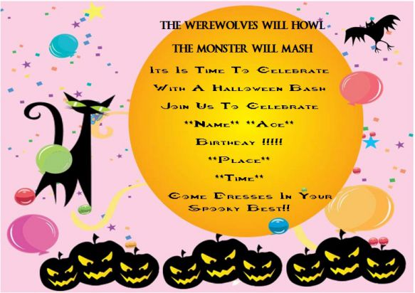 Halloween surprise birthday party invitation