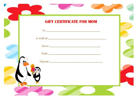 Best gift certificate for mom