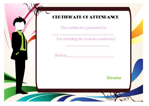 conference attendance certificate