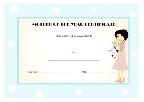 Free printable mother of the year certificate