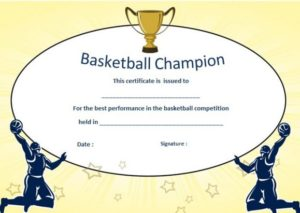 Basketball Camp Champion Award