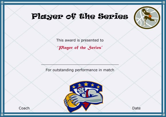 Basketball Camp Player Of The Series 2