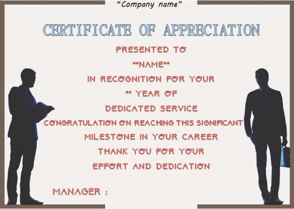 employee anniversary recognition certificate
