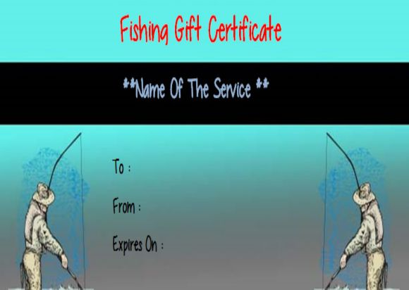 Fishing Gift Certificate Template Free