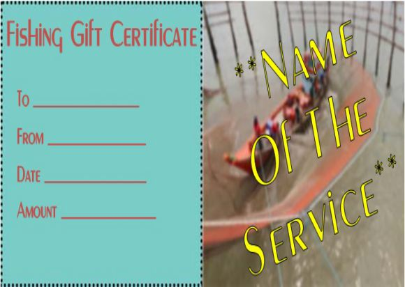 Fly Fishing Gift Certificate Template