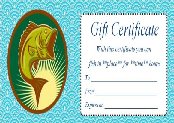 Fly Fishing Gift Certificate Templates