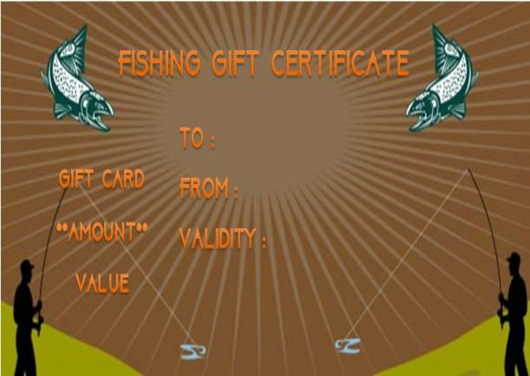 Free Fishing Gift Certificate Templates