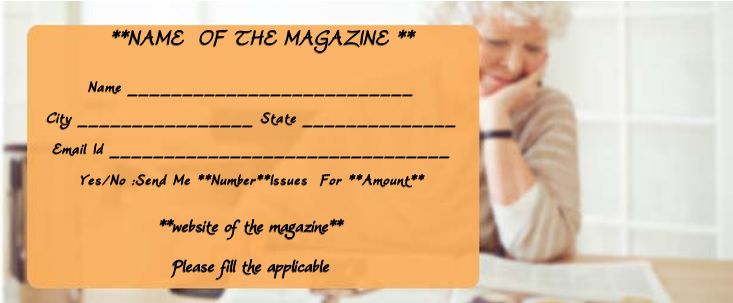 magazine gift certificate template for her