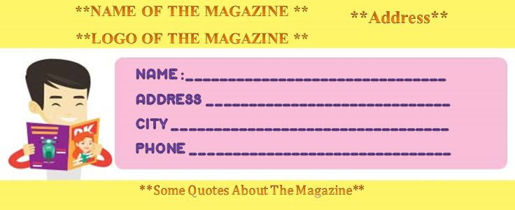 magazine subscription gift certificate template for him