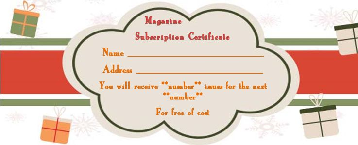 magazine gift certificate template with gift pictures