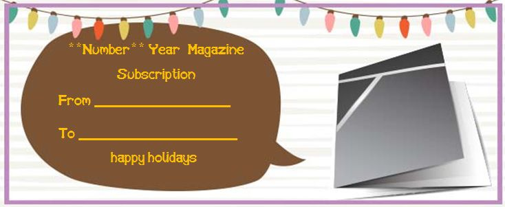 magazine gift certificate template with magazine cover
