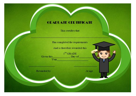 5th grade completion free certificate