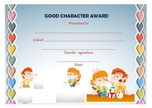 Character award for student