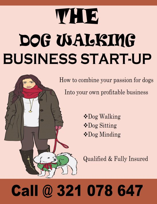 Dog walking business start up flyer