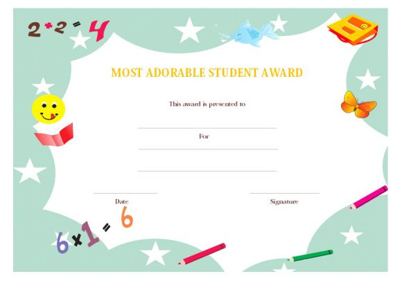 Most adorable student award