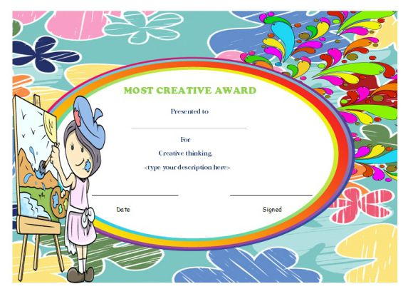 Most creative student award
