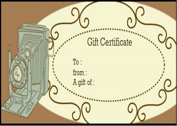Photography Gift Certificate Template word