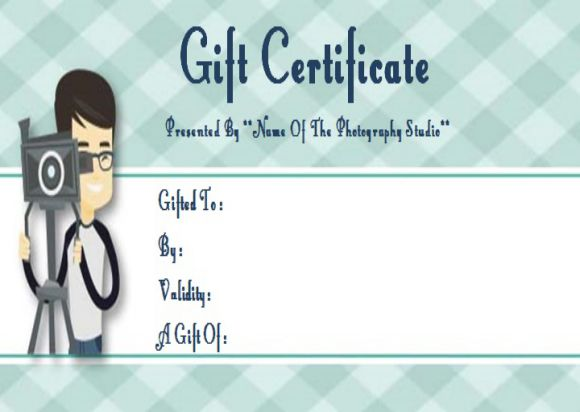 Photography christmas Gift Certificate Template
