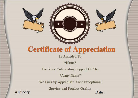 certificate of military service template