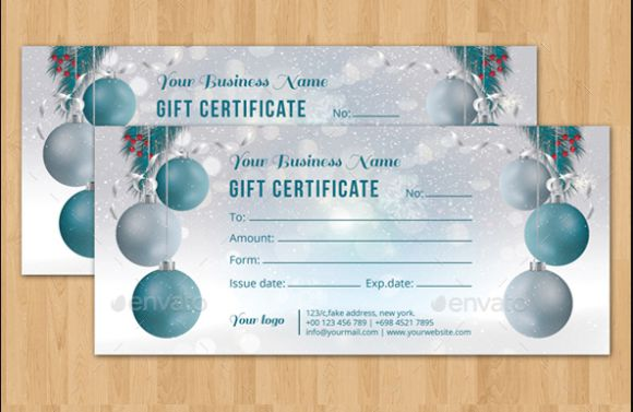 Christmas gift certificate template - Graphic River 2