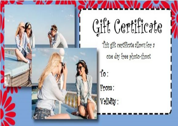 Etsy photography gift certificate template