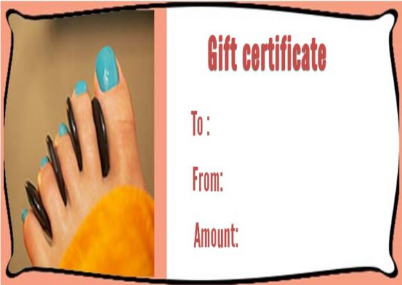 Free nail salon gift certificate template