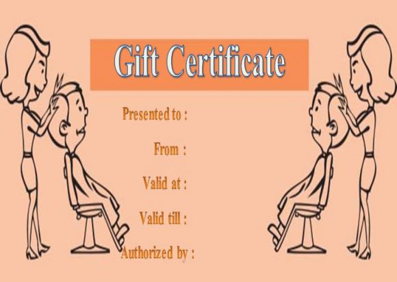 Free printable beauty salon gift certificate template