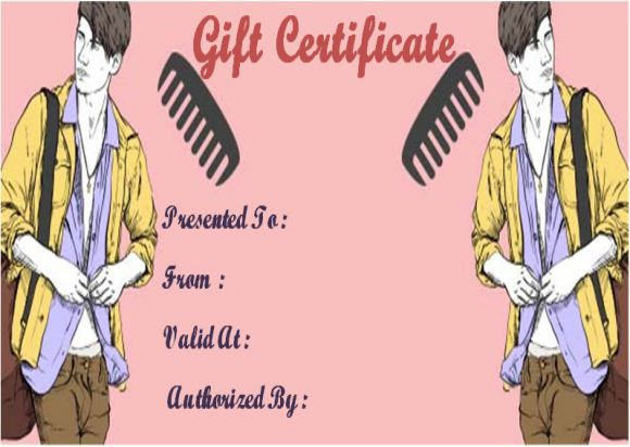 Free printable beauty salon gift certificates template