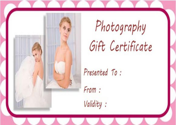 Gift certificate template with photo