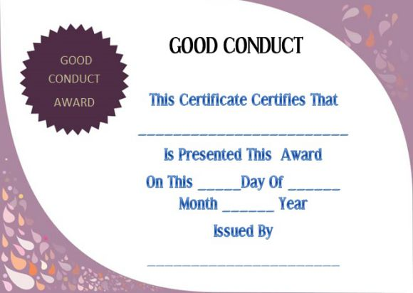 Good conduct certificate sample letter