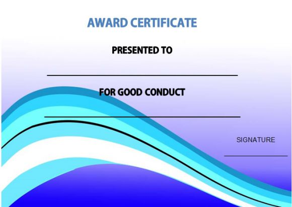 Good conduct certificate samples