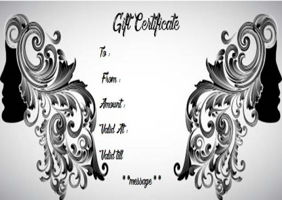 Hair salon gift card