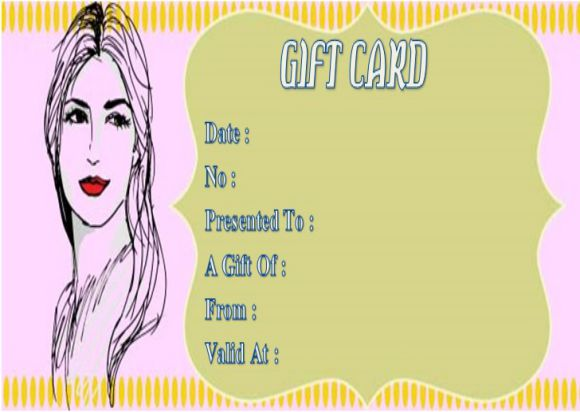 Haircut gift certificates template
