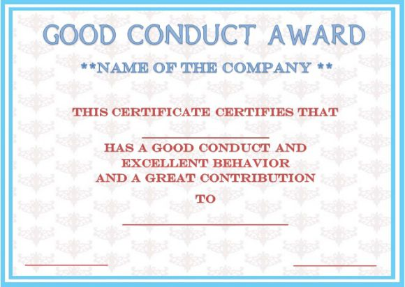 Letter of good conduct for a employer