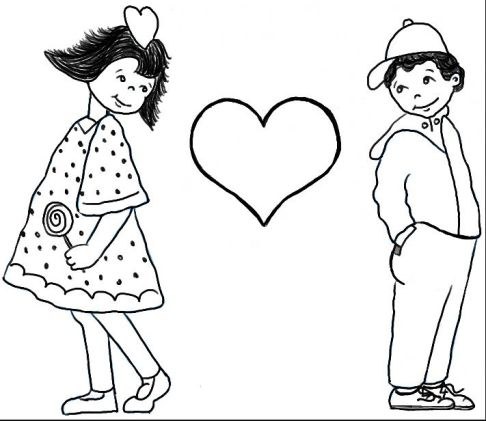 Love Drawing Boy And Girl