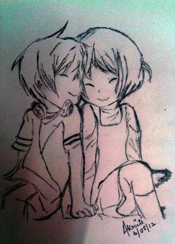 Love Drawing Girl And Boy