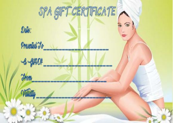 Massage gift certificate templates free printable