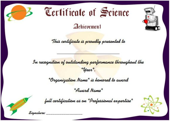 Science Fair Participation Certificate 11 Free Editable Awards In Word Demplates