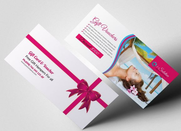 SPA Gift Certificate Template With Discount