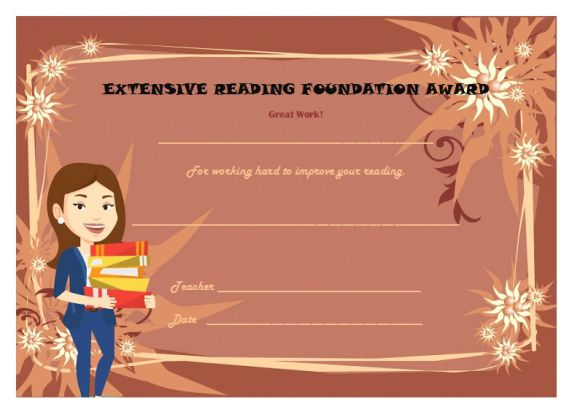 Extensive reading foundation award