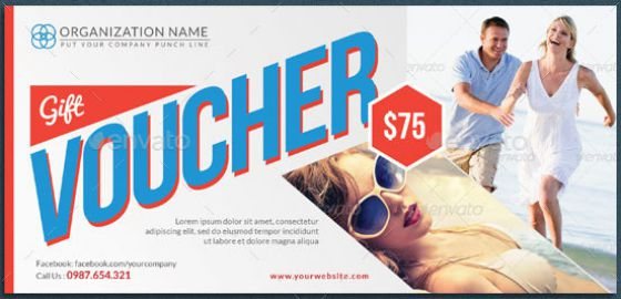 holiday and vacation gift voucher template