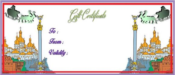 Christmas travel gift certificate templates