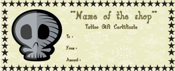 Tattoo gift coupon template
